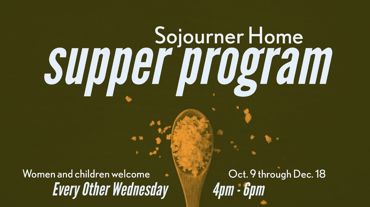 Sojourner Home Supper Program