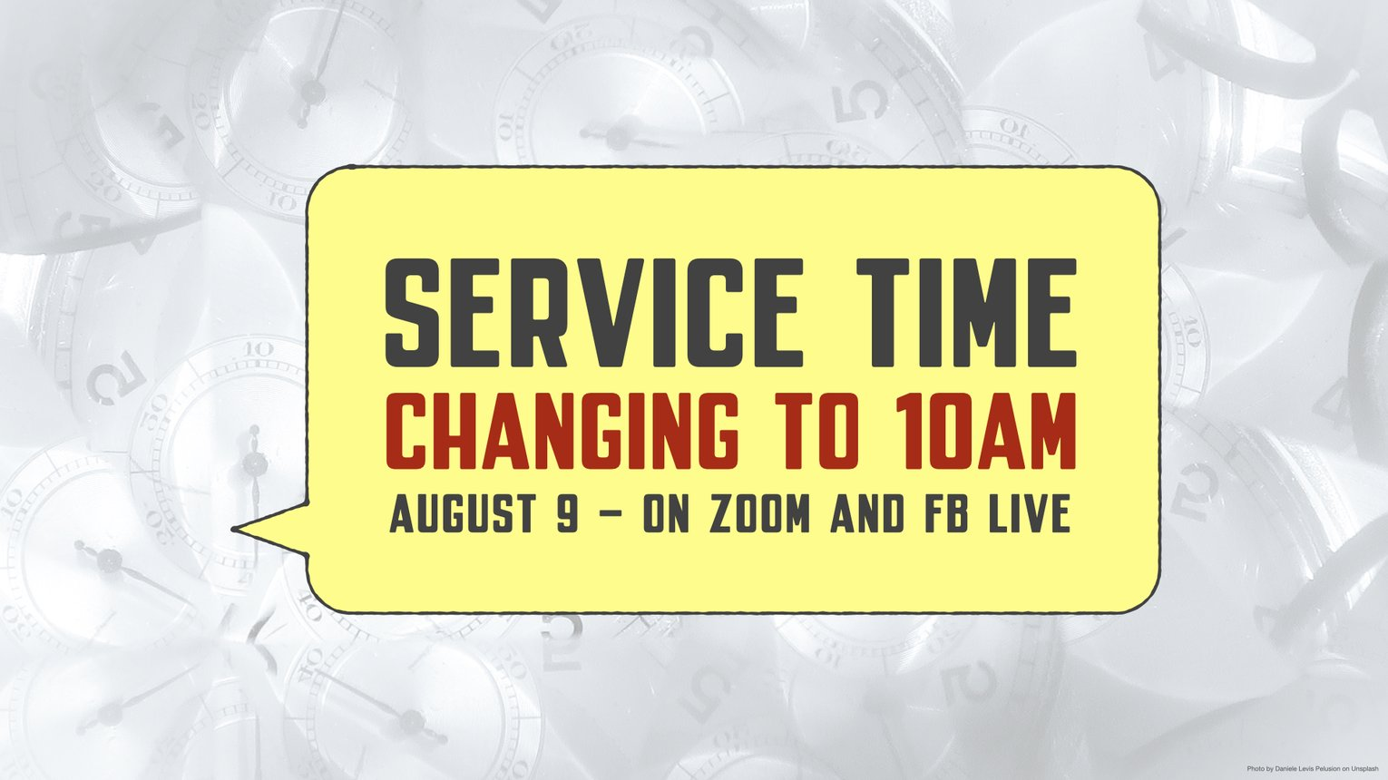 Service time change August 2020